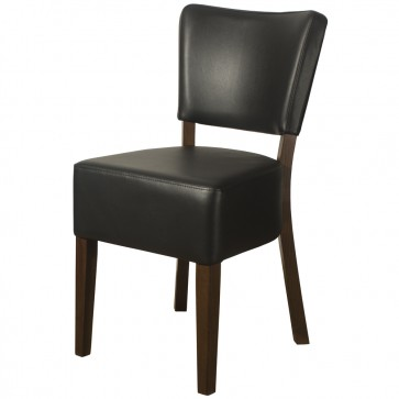 Belmont Black Faux Leather Side Chair