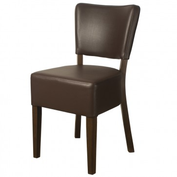 Belmont Brown Faux Leather Side Chair