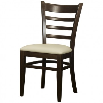 Belmont Ladder Back Walnut / Cream Side Chair