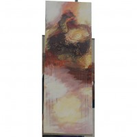 Tall Hand Painted Abstract Canvas