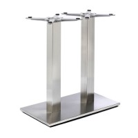 Fleet - Lounge Height Rectangle Twin Table Base (Square Column)