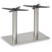 Fleet - Lounge Height Rectangle Twin Table Base (Round Column)