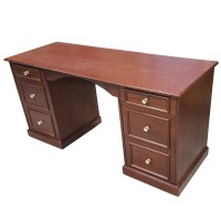 Luxury Mahogany Desk With 6 Drawers