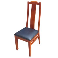 Classic Style Highback Sidechairs Faux Leather Seat