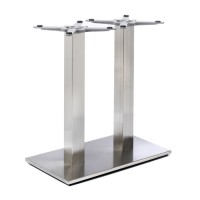 Fleet - Dining Height Rectangle Twin Table Base (Square Column)