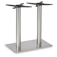 Fleet - Dining Height Rectangle Twin Table Base (Round Column)