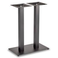 Trafalgar - Mid Height Rectangle Twin Table Base (Square Column)