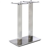 Fleet - Mid Height Rectangle Twin Table Base (Square Column)