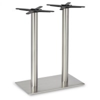 Fleet - Mid Height Rectangle Twin Table Base (Round Column)