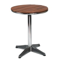 Outdoor Table Aluminium Base & Teak Solid Wood Top