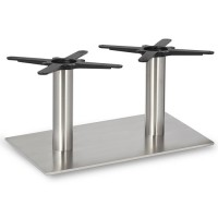 Fleet - Coffee Height Rectangle Twin Table Base (Round Column)