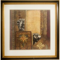 Guilded Black and Gold Frame Mixed Art