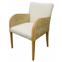 Refurbished Tub Chair With Mixed Fabric