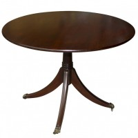 Rosewood Round Table WIth Base