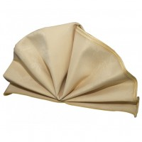 Gold Floral Pattern Dining Napkins