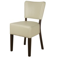 Belmont Cream Faux Leather Side Chair