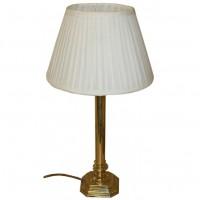 Decorative Brass Style Lamp With Luxury Silk Shade