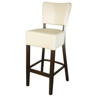 Belmont Cream Faux Leather Bar Stool