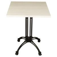 White Wash Complete Square Continental 60cm Table