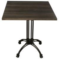 Dark Oak Complete Square Continental 2 Seater Table