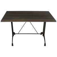 Dark Oak Complete Continental 4 Seater Table