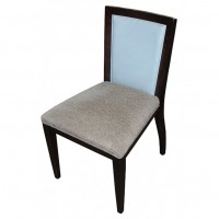 Blue Backed Side Chair with Grey Seat