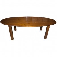Large Oval Solid Wood Tables