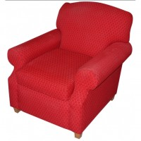 Red Spotted Upholstery Tub Chairs
