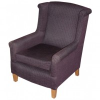 Purple Upholstered Tub Chair