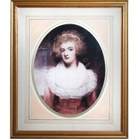 Gold Framed Woman Picture