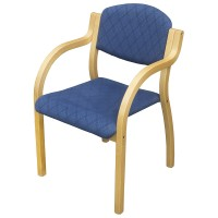Blue Upholstery Stacking Arm Chairs