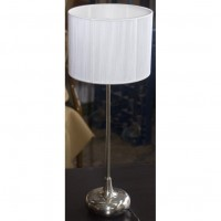 Chrome Bedside Lamp With Shade
