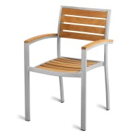 Outdoor Aluminium & Teak Arm Chair