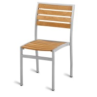 Outdoor Aluminium & Teak Side Chair