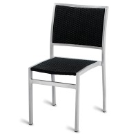Outdoor Aluminium & Weave Side Chair