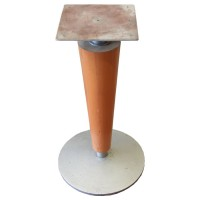 Used table base, round cast iron base wood column, dining height