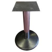 Used table base, round black base, silver column, dining height
