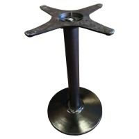 Used table base, round black cast iron, dining height