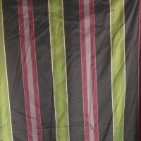 Used Curtain Pink Green Silky Metalic Large Curtain
