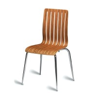 Lucca Natural Zebrano Cafe Chair