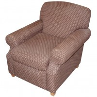 Brown Spotted Upholstery Tub Chair