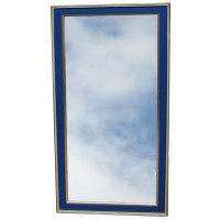 Tall Blue and Gold Framed Mirror