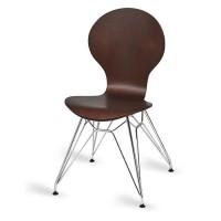 Mile Side Chair, Wenge, N Frame