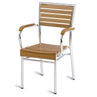 Paphos Outdoor Slatted Armchair