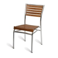 Paphos Outdoor Slatted Side Chair Teak Solid Wood