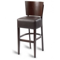 Hyde Luxe Solid Back Bar Stool - Mocha