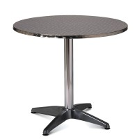 Outdoor Table Stainless Steel Top Aluminium Base