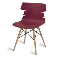 Thames Burgundy Side Chair