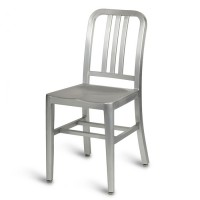 Navy Side Chair - Anodized Aluminium