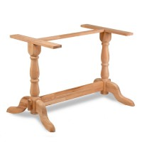 RAW Solid Beech Table Base - Twin